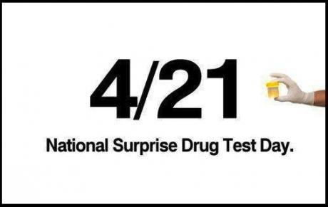 4-21 - surprise urine test.