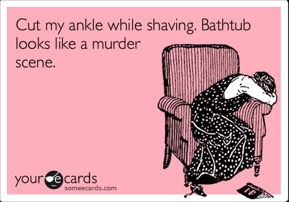 Shaving creates murder scene