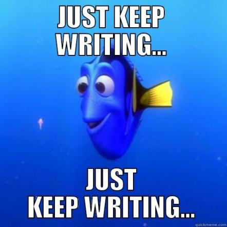 dorymeme -- just keep writing